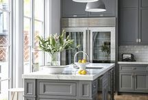 Kitchen space in the shades of grey / Grayness doesn't have to be boring! Just match it with white or some vivid colors and the shine will come back to your kitchen!