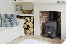 Log burner fireplace