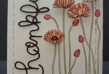 Pleasant Poppies Stampin' Up Background Stamp