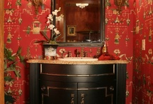 powder rooms. / Powder rooms are one of my favorite rooms to design -- you can go a little crazy with scale, pattern and color in this small space and it won't be overwhelming / by brettVdesign - interior designer + blogger