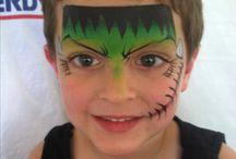 Halloween face paint boys / Halloween