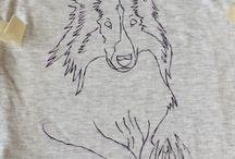 T shirts handpainted