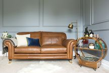 Leather Louis Sofas
