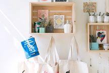 Shops / sobre lojas, vitrines e produtos