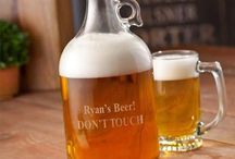 Personalized Barware | Engraved Copper Mugs | Etched Beer Glasses | Monogrammed Growlers / Unique personalized wine glasses, beer steins, growlers, cigar cutters, flasks, bags and other personalized bar items!