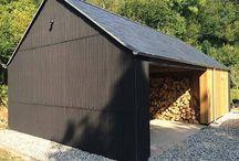 Black corrugated exterior