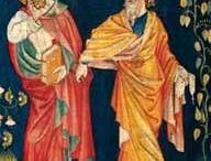 Tapices, bordados / Libros sobre el arte textil en época medieval