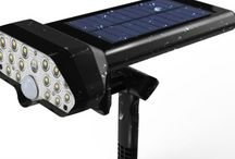 Solar spotlight with motion sensor