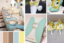 ஜ Wedding Mood Pastel ~ Mariage Bleu & Jaune ஜ