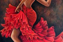 Bailaoras de flamenco