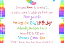 Birthday Invites / Invites I have personally made for all kinds of different themes. If you like what you see send me an email and I can send you the 5x7, 7x5 template with the name and all the information you want on it all for the price of $7. My email is v.rigby3@gmail.com / by Vanee Rigby