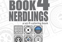 Colorbook4Nerdlings / Sci-Fi Doodles made into downloadable coloring books and projects.  Printable pages, PDF Coloring books, Sci-Fi themes for kids or anyone one who loves Sci-Fi