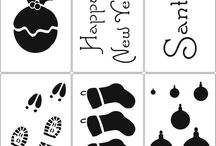 Christmas Stencils / Seasonal Cappuccino and Cake stencils. use our designs or we can personalise your own
