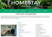 Cheap hotel Melbourne / Homestay Melbourne accommodation usually consumes a major share of your budget while travelling and thus you look for a cheap yet good accommodation. A family room in Homestay Melbourne would be as economical as a cheap hotel Melbourne. You many not find all the luxuries of a big hotel here, but it is calm and comfortable for you and your family to stay at http://homestaymelbourne.net.au/cheap-hotel-stay-melbourne/.