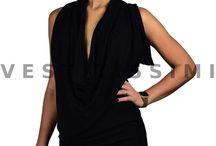 Vestito donna vestitino sexy abito miniabito rosso nero strass party festa Vs18