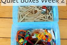 Quiet boxes/busy bags