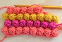 punto garbanzo en crochet