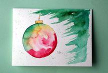 Weihnachtskarten selber machen DIY