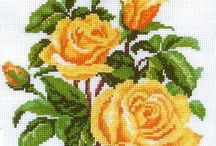 ROSES* CROSS STITCH-EMBROIDERY