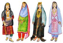 Beautiful TRADITIONAL Arab clothing. / The beautiful, colourful and proud traditional dress of the Middle East and North Africa before the all encompassing black cloud of oppression drifted in.   / by Beth Sullivan