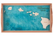 Hawaii Trays / 2 dimensional serving trays made from one piece of wood.