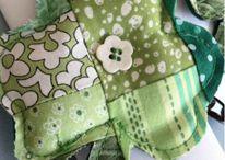 Shamrock Quilt / Shamrocks, shamrock quilt, shamrock pillow, templates, ornaments