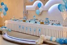 Dessert table / Dessert table, baby boy birthday party