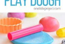Marshmallow play dough