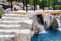 Backyard Water Features / We've helped homeowners install the backyard oasis of their dreams.  Water feature design and construction by The Cavalry Group.