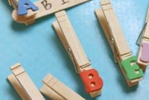 alphabet clothespins