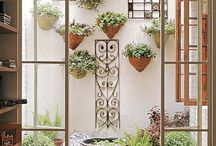 Patio interno y Jardin