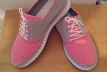 Pantofi croșetati