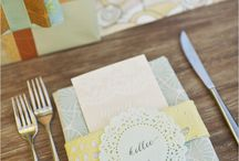 Place Setting / Menus / by Emily Edwards at Your Heart's Desire