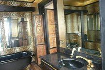 Bathroom for 80s Bedroom Brown Art Deco