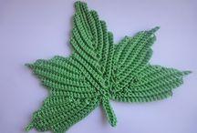 hojas a crochet