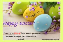 Easter Special Offers / Enjoy up to 30% off from #mosaic products between 1-3 April, 2015 in store or online!   These offers are valid from 1st April, 2015 until 3rd April, 2015 (or until stock last) in our shop or online www.susansnailstore.co.uk