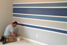 striped painting walls