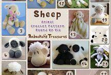 crochet amigurumi mouton