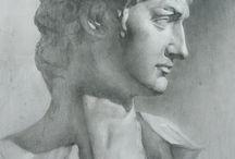 Bust drawings