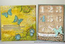 Scrapbooking, Mixed media, Carterie / album photo, technique, carte, décoration, marque page, enveloppe ...