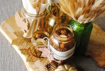 THANKSGIVING / Centerpieces from Jars and Bottles perfect for Thanksgiving