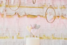 Pink and Gold Backdrops