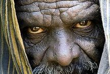 male face portrait evil