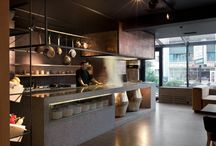luxury open kitchen restaurant
