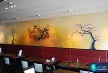 Muurschilderingen voor bedrijven en horeca / We schilderen zowel voor particulieren als bedrijven. Een mooie muurschildering kan uw zaak doen opleven en het extra gezellig maken voor de klanten of voor het personeel