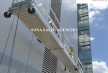Suspended Platform / The modular suspended platform systems to a higher level. Because for those who work at height, occupational safety is of vital importance. The modular suspended platform systems from Sona Sales Agencies is affordable and efficient. Perfect for those looking for a temporary solution for facade access. The Sona Sales Agencies product range combines all the essential elements for safe, efficient facade access into one revolutionary system