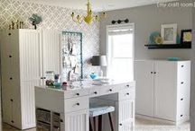 CRAFT ROOM INSPIRATIONS / A collection of craft rooms i like:)