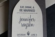 Wine Bottle Invitations / Wine bottle invitations for wine themed bridal showers and birthday parties