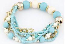 bracelets of beads