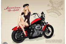 pin-up & motorcycles